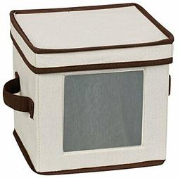 Household Essentials 534 Dinnerware Storage Box with Lid and