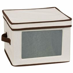 Household Essentials 536 Dinnerware Storage Box with Lid and