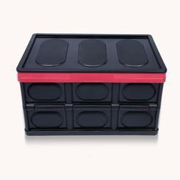 55L Collapsible Storage Box Durable Stackable Folding Utilit