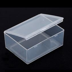 5x Clear Plastic Storage Box Collection Container Case Part