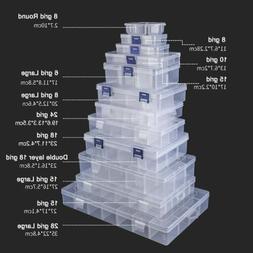 6-36 Grid Storage Box Plastic Compartment Adjustable Jewelry