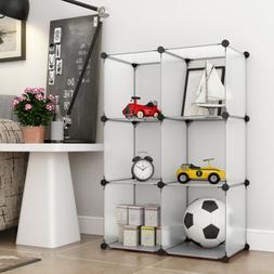 6 Cube DIY Organizer Bookcase Storage Cabinet Wardrobe Close
