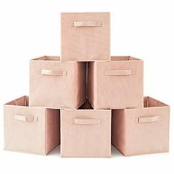 EZOWare Set of 6 Home Storage Basket Bins Fabric Organizer B