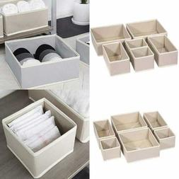 KIMIANDY 6 Pack Foldable Cloth Storage Box Closet Dresser Dr