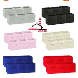 6 Pcs Foldable Storage Cubes Collapsible Fabric Bins Shelf O