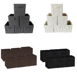 6 pack foldable storage cubes box fabric