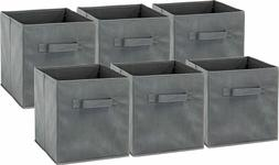 6 pack simplehouseware foldable cube storage bin