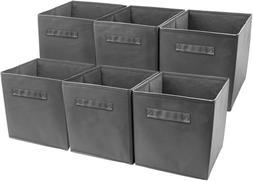 6 pcs foldable collapsible fabric basket bin