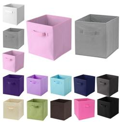 6 Pcs Home Fabric Storage Box Closet Organizer Cube Bins Bas
