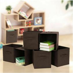 6 Pcs Home Fabric Storage Box Household Organizer Cube Bins