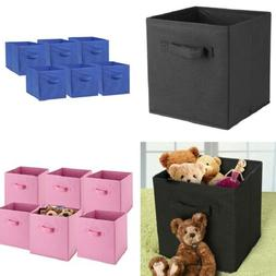 6 PCS Home Storage Bins Organizer Fabric Cube Boxes Basket D