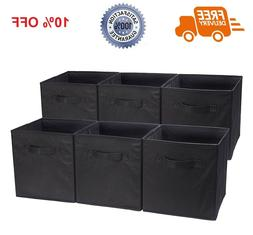 6 Pcs Storage Box Cube Bin Fabric Basket Box Drawer Containe