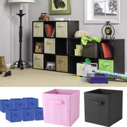 6 Pcs Storage Box Household Organizer Fabric Cube Bin Basket