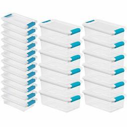 Sterilite 6 Qt Stackable Storage Box Container & Small File