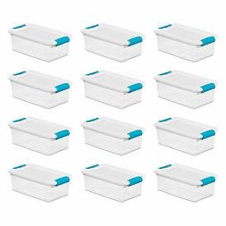 Sterilite 6-Quart Clear Stackable Latching Storage Box Conta