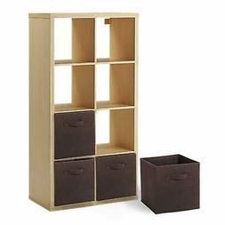 6 X Foldable Cube Storage Folding Boxes Clothes Organizer Un