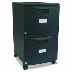 Storex 61309B01C Two-Drawer Mobile Filing Cabinet 14.75w x 1