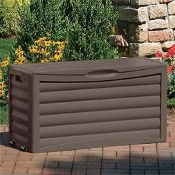 46L x 18W x 24H in. Mocha Brown Suncast 63-Gallon Storage Deck Box DB6300B -
