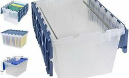 66486 FILEB 12-Gallon Plastic Storage Hanging File Box with