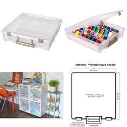 Artbin 6955Ab Super Satchel 1-Compartment Box - Clear, Craft