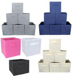 6pc Folding Storage Basket Bins Cube Set for Nursery Shelves