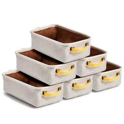 6pc Small Storage Bins Baskets, Drawer Dresser Desktop Organ