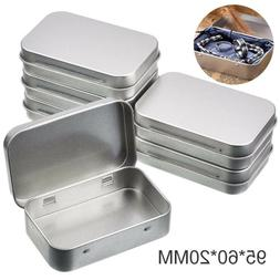 6Pcs Metal Storage Box Empty Hinged Tins Jewelry Stationery
