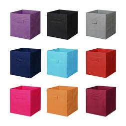 6PCS New Home Storage Bins Organizer Fabric Cube Boxes Baske