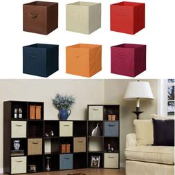 6Set Fabric Storage Bins Organizer Cube Boxes Basket Drawer