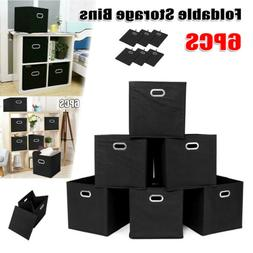 6X Foldable Fabric Storage Box Closet Organizer Cubby Cube B