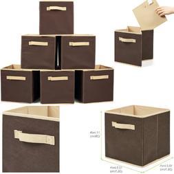 6x storage box cube bins fabric basket