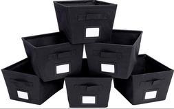 6x Storage Box Cube Bins Fabric Basket Drawer Container Orga