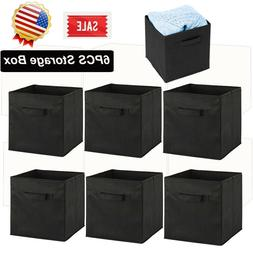 6x Storage Box Cube Bins Fabric Basket Box Drawer Container