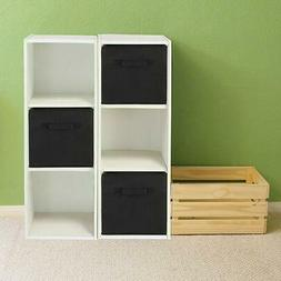 6X Storage Box Cube Unit Organizer Fabric Bin Shelf Basket D