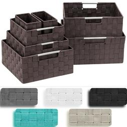 7-Pack Storage Box Set for Closet & Shelves - Woven Fabric B