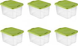 Sterilite 70 Quart EZ Carry- Spicy Lime