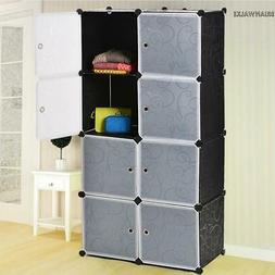 8 Slot Tower Organizer Storage Bathroom Cabinet Box Furnitur