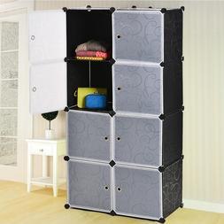 8 Cubed Tower Plastic Organizer Storage Bathroom Cabinet Box
