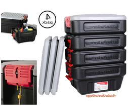 Rubbermaid 8-Gal Action Packer Storage Tote  Lockable Organi