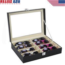8 Grid Eye Glasses Case Eyewear Sunglasses Display Storage B