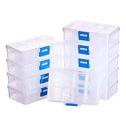 BENECREAT 10 Pack 8 Grids Jewelry Dividers Box Organizer Adj