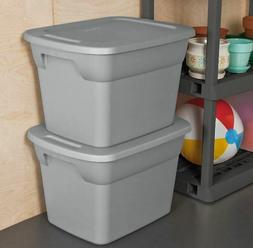 8 PACK Sterilite 72-Quart Storage Tote Container Plastic Box