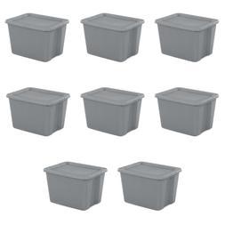 8 PLASTIC STORAGE CONTAINERS 18 Gallon Sterilite Stackable T