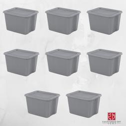 8 PLASTIC STORAGE CONTAINERS 18 Gallon Sterilite Stackable T