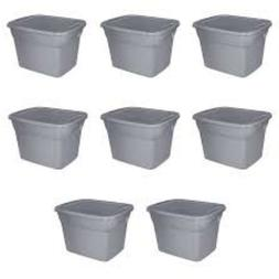 8 plastic tote boxes storage 18 gallon