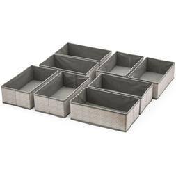 8pc drawer divider bins closet dresser storage