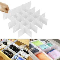 8Pcs Adjustable Drawer Organizer Home Kitchen Board Divider