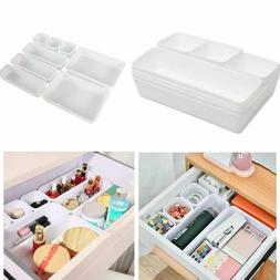 8pcs desk box drawer organization tray organizer