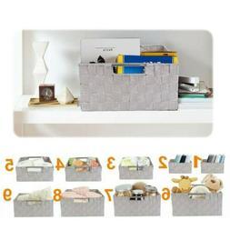 9 PCS Storage Basket Set Organizer Bin Box for House Stackab