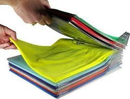 EZSTAX Closet Organizer and Shirt Folder   Regular Size, 20-
